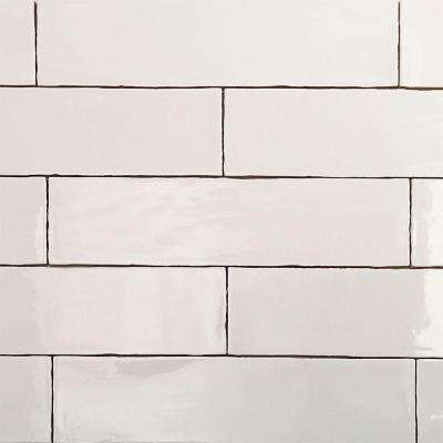 Ivy Hill Tile      Catalina White 3 in. x 12 in. x 8 mm Ceramic Wall Subway Tile (44-Pieces 10.76 sq.ft./case)
