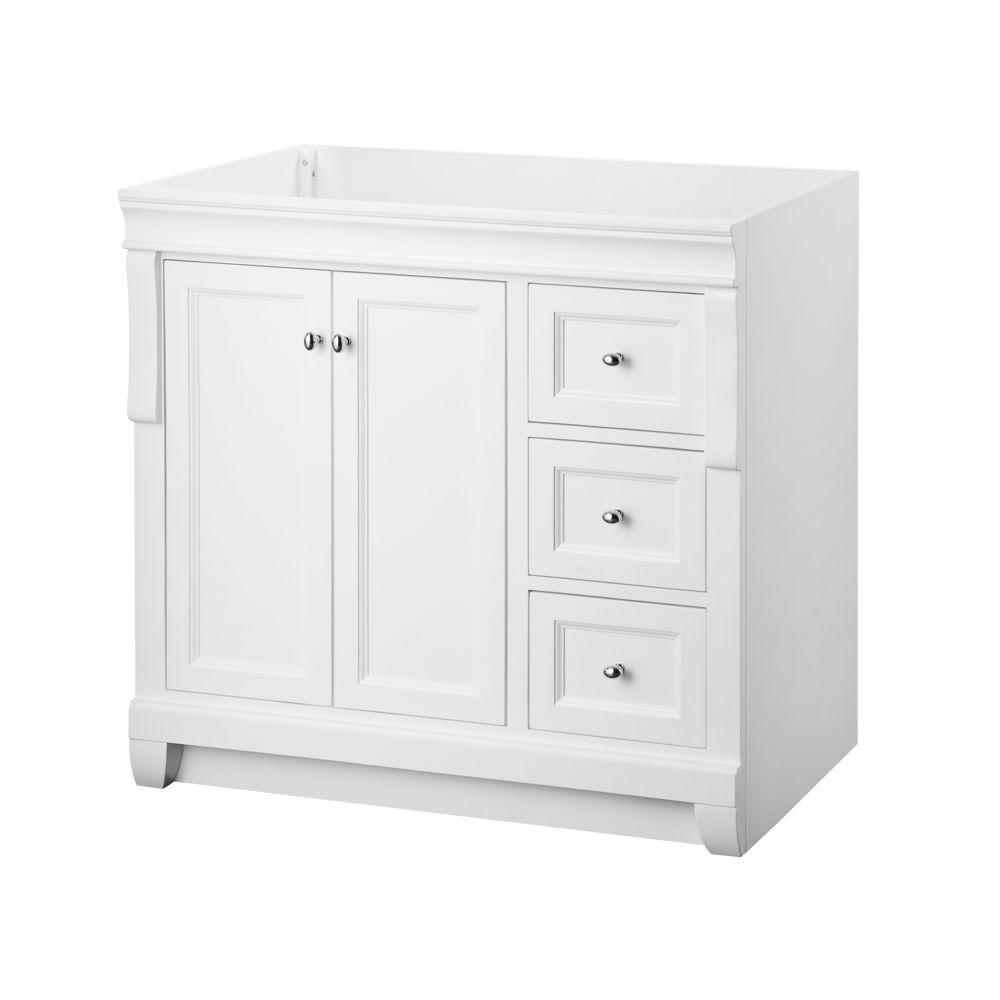 Naples 36 In W Bath Vanity Cabinet Only In White With Right Hand Draw In Stock Hardwarestore Delivery