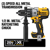 20-Volt MAX XR with Tool Connect Premium Brushless Lithium-Ion 1/2 in. Hammer Drill/Driver (Tool Only)