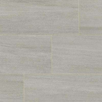 Home Decorators Collection      Nova Falls Gray 12 in. x 24 in. Porcelain Floor and Wall Tile (15.6 sq. ft. / case)