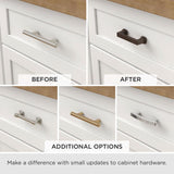 Retro 1-1/4 in. (32mm) Center-to-Center Satin Nickel Curl Cup Drawer Pull