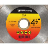 Forney 4-1/2 in. Continuous Rim Diamond Tile-Cutting Blade