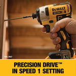 20-Volt MAX Lithium-Ion Cordless 1/4 in. Impact Driver with 20-Volt Brushless 5 in. Random Orbital Sander (Tool-Only)