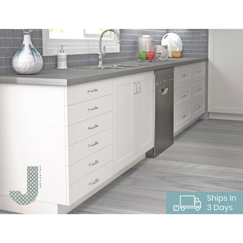 Shaker Assembled 36x34 5x24 In Base Cabinet In Vanilla White In Stock Hardwarestore Delivery