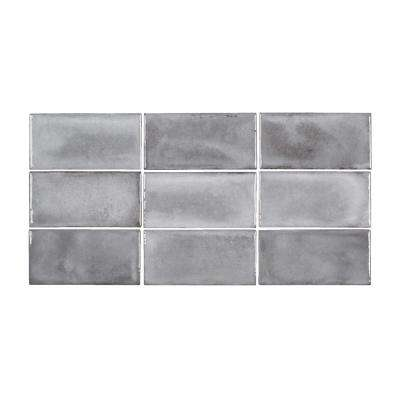 Jeffrey Court      Gris Rustico 3 in. x 6 in. Glossy Ceramic Wall Tile (5.38 sq. ft. / case)