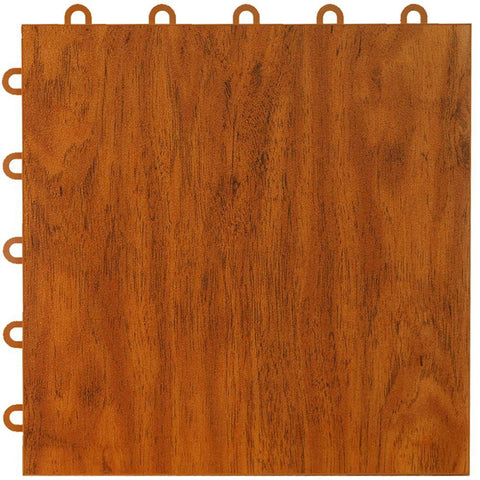 Greatmats Max Tile 12 in. x 12 in. x 5/8 in. Cherry Vinyl Interlocking Raised Modular Floor Tile (Case of 26)