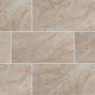 Exclusive         MSI      Cancun Beige 12 in. x 24 in. Matte Ceramic Floor and Wall Tile (16 sq. ft. / case)