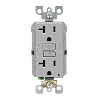 Leviton      20 Amp Self-Test SmartlockPro Slim Duplex GFCI Outlet, Gray