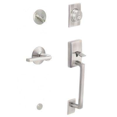 Kwikset      Arlington Venetian Bronze Single Cylinder Door Handleset with Tustin Door Lever Featuring SmartKey Security