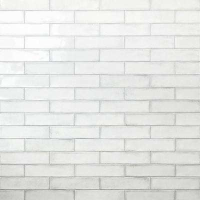 Ivy Hill Tile      Moze White 3 in. x 12 in. 9 mm Ceramic Wall Tile (22-Piece) (5.38 sq. ft./ Box)