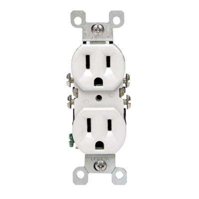 Leviton      15 Amp Duplex CO/ALR Outlet, White