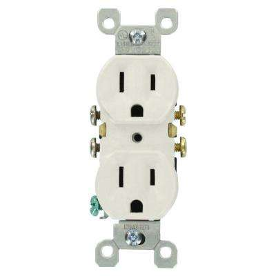 Leviton      15 Amp Residential Grade Grounding Duplex Outlet, White (10-Pack)