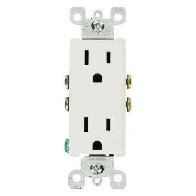 Leviton      Decora 15 Amp Residential Grade Grounding Duplex Outlet, White (10-Pack)