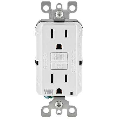 Leviton      15 Amp 125-Volt Duplex Self-Test Tamper Resistant/Weather Resistant GFCI Outlet, White