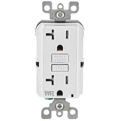 Leviton      20 Amp 125-Volt Duplex Self-Test Tamper Resistant/Weather Resistant GFCI Outlet, White