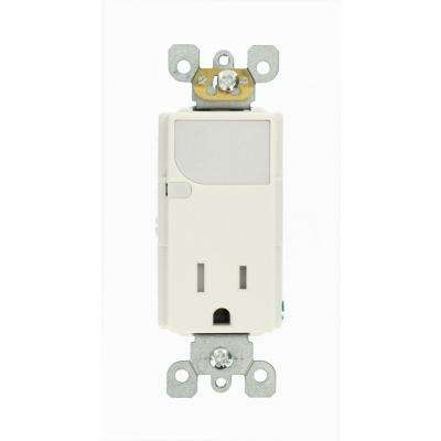 Leviton      Decora 15 Amp Combination Single Outlet with LED Sensor Guide Light, White
