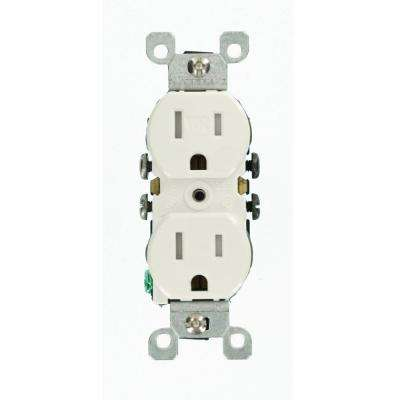 Leviton      15 Amp Weather and Tamper Resistant Duplex Outlet, White