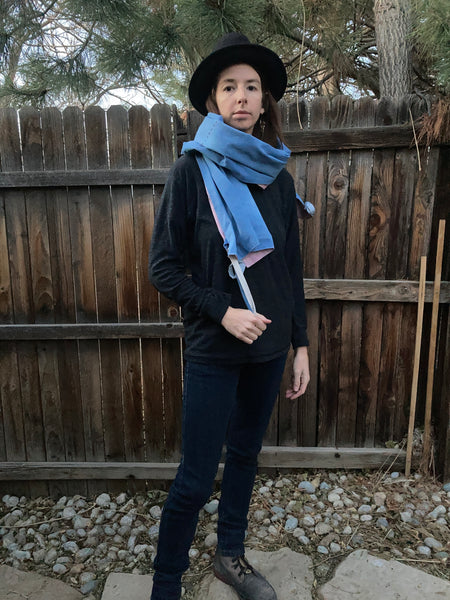Eclipse Embroidered Scarf