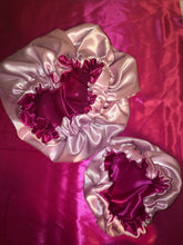 Load image into Gallery viewer, Hot Pink/Light Pink Reversible Bonnet