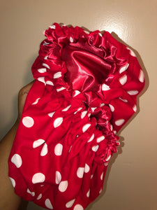 Red Polka Dot Bonnet