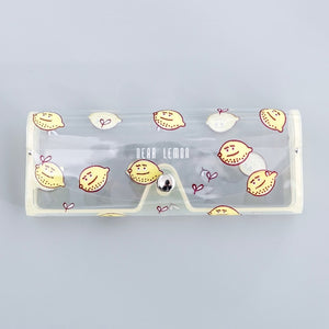 Cartoon Cute Travel Women Transparent PVC Eye Glasses Box Bag Case Protection Carry Box Eyewear Accessoires