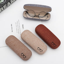 Load image into Gallery viewer, 1Pcs 2019 New Fashion Men Women Kids Leather Eye Glasses Hard Shell Protector Reading Eyewear Case Portable Sunglasses Box Case