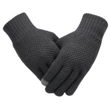 Load image into Gallery viewer, Winter Men Knitted Gloves Touch Screen High Quality Male Mitten Thicken Warm Wool Cashmere Solid Men Business Gloves Autumn