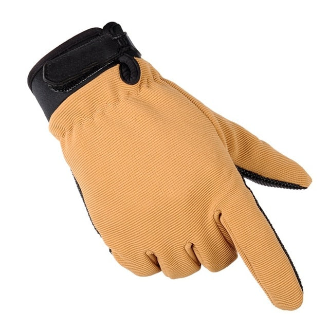 Mens Tactical Gloves Lightweight Breathable Riding Gloves Non-slip Wearable Full Finger and Half Finger Gloves