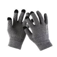 Load image into Gallery viewer, 1Pair Men Thicken Knitted Gloves For Phone Screen Male Winter Autumn Warm Wool Cashmere Solid Gloves Men Mitten Business Gloves