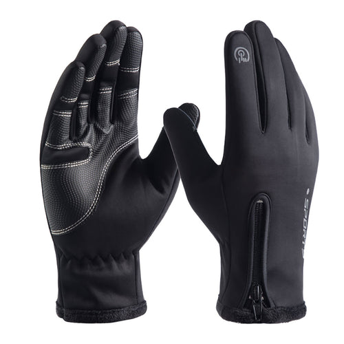 Waterproof Winter Warm Gloves Windproof Outdoor Gloves Thicken Warm Mittens Touch Screen Gloves Unisex Men Sports Glove #4