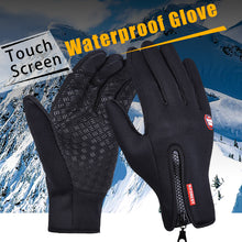 Load image into Gallery viewer, Outdoor Sports Windstopper Waterproof Gloves Black Riding Glove Motorcycle Gloves Touch Screen Black Full Finger Men