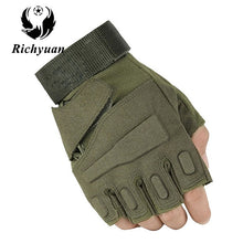 Load image into Gallery viewer, Us Military Tactical Gloves Outdoor Sports Army Full Finger Combat Motocycle Slip-resistant Carbon Fiber Tortoise Shell Gloves