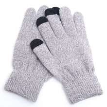 Load image into Gallery viewer, Winter Touch Screen Gloves Women Men Warm Stretch Knit Mittens Imitation Wool Full Finger Guantes Female Crochet Luvas Thicken