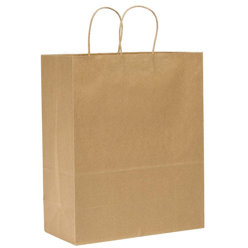 "17"" Kraft Paper Bag with Handles - 250 units"