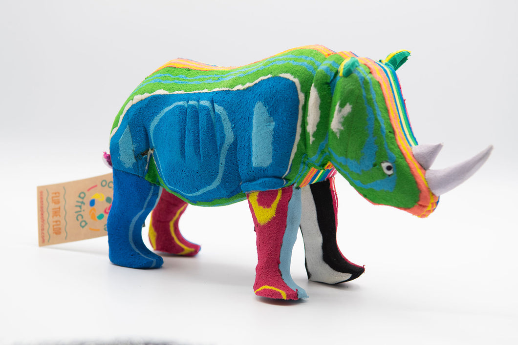 Recycled Flip-Flop Rhino (Medium) - 10 units