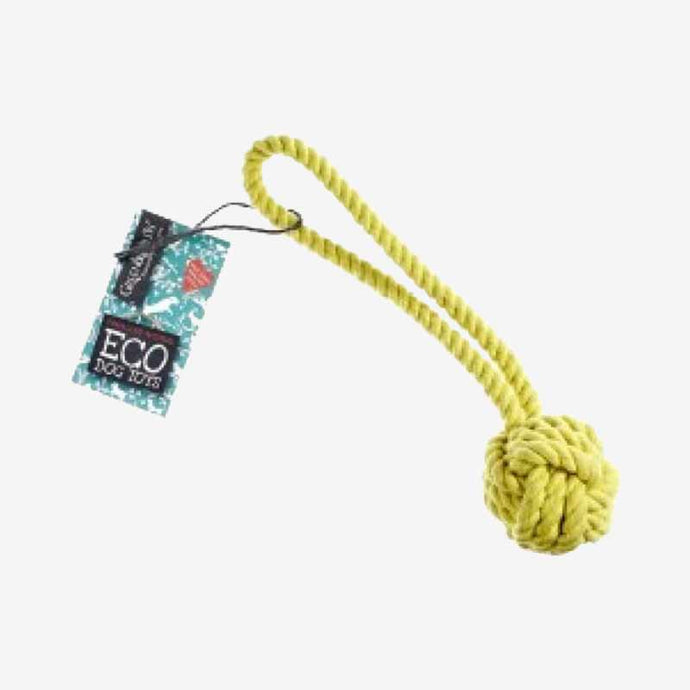 DOG TOY. ECO ROPE BALL MADE FROM SUSTAINABLE JUTE.
