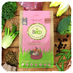 DRY DOG FOOD - NATURAL & HEALTHY.  FREE ROAMING WILD BOAR WITH PUMPKIN & BROCCOLI