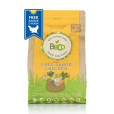 DRY DOG FOOD. NATURAL & HEALTHY. FREE RANGE CHICKEN  WITH CARROT & CHICORY