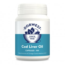 Cod Liver Oil Capsules For Dogs. 100 Tablets  - Natural Heath Remedies