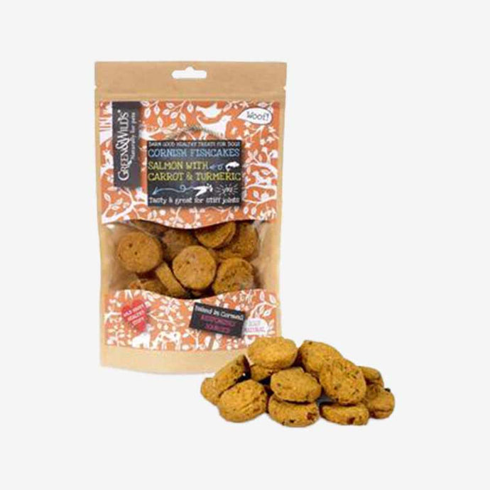 Healthy Dog Treats. Cornish Fishcakes with Salmon & Turmeric. An anti-inflammatory. Good for  arthritis and it aids digestion.
