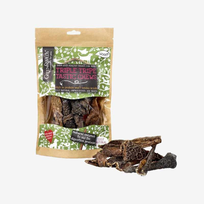Healthy Dog Chews. Triple Tripe Tastic Chews. Natural,  Highly Nutritious Treat.