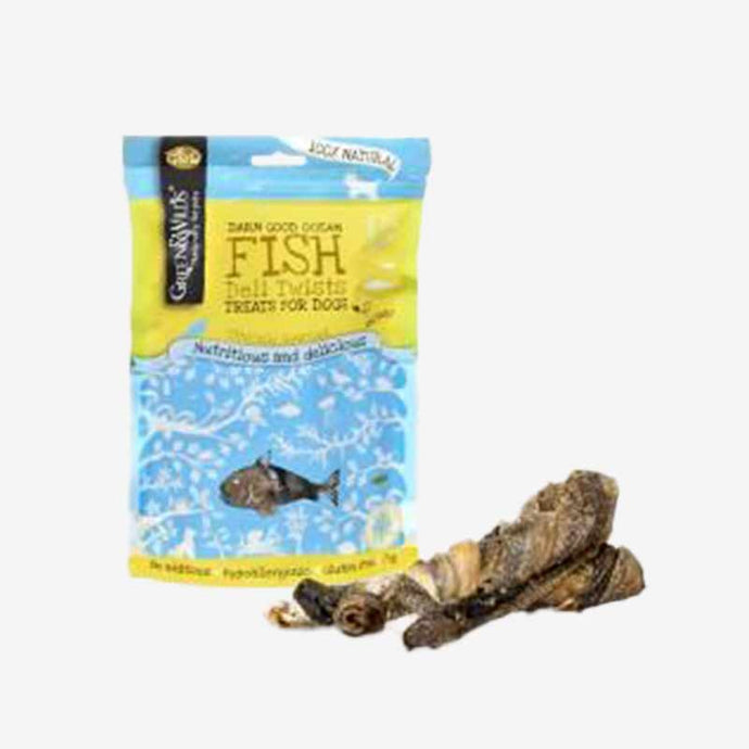 Healthy Dog Treats. Fish Deli Twists. 100% Naturally Dried Fish Skin From British Waters
