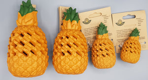 Dog Toy And Treat Dispenser. Pineapple. Made With Eco Friendly Natural Rubber