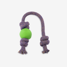 Load image into Gallery viewer, DOG TOY. NATURAL ECO RUBBER. BALL ON ROPE