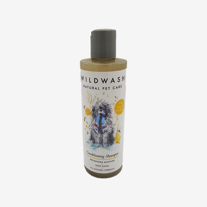Dog Shampoo For Itchy Skin. WildWash PET Conditioning Shampoo 250ml. With Honey and Oatmeal