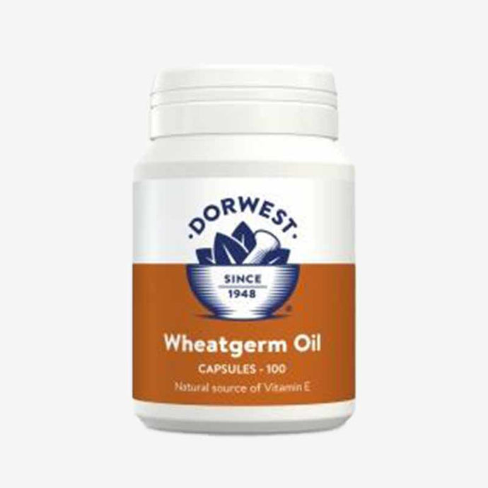 Wheatgerm Oil Capsules For Dogs. 100 Capsules. Natural Antioxidant With Vitamin E