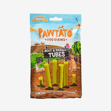 Load image into Gallery viewer, Dog Treats. Benevo's Vegetarian Pawtato Mint & Parsley Tubes 90g. Vegetarian Treat