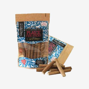 Healthy Dog Treats. Plaice Fish Sticks. 100% Natural Treats. Packed with proteins, oils and vitamin