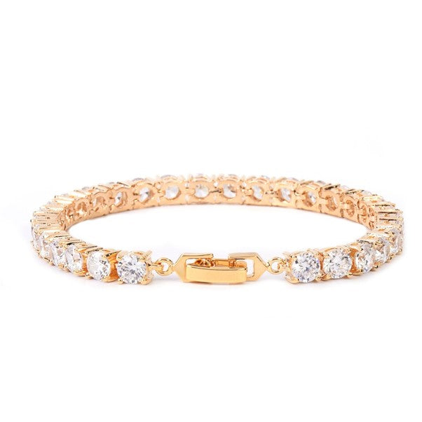 3-6mm Signature Gold Tennis Bracelet