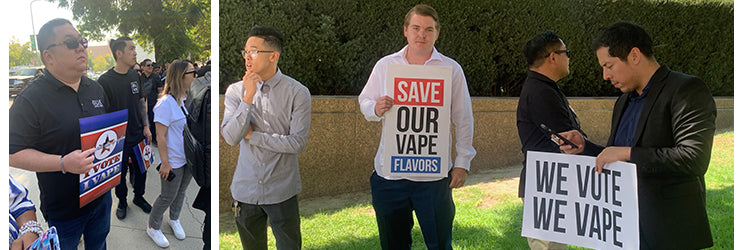 Vaping Advocates Protesting